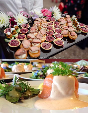 Wedding food, south devon